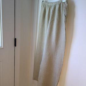 FLAX wide-leg linen pants Medium